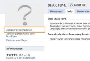 Facebook FBML Zu meiner Seite hinzufügen