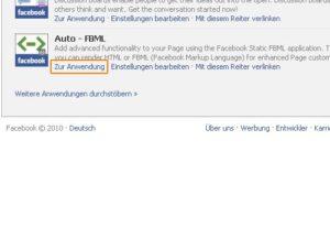 FBML: Zur Anwendung