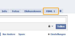 Facebook mit FBML Reiter