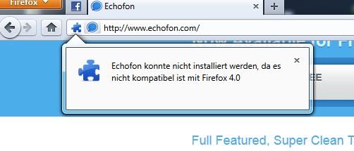 Kompatibilität von Firefox Addons auf 4.0 erhöhen