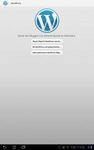 Startscreen WordPress App