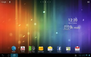 Startbildschirm Android 4.0 auf dem ASUS Transformer