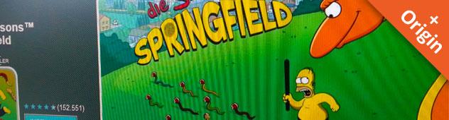 Simpsons Springfield Android App: Origin ist angekommen!
