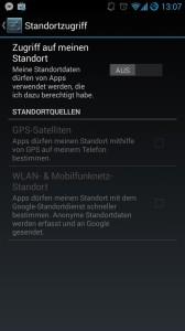 Standortzugriffe deaktivieren Android