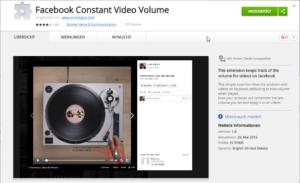 Chrome Erweiterung für die Lautstäke von Facebook